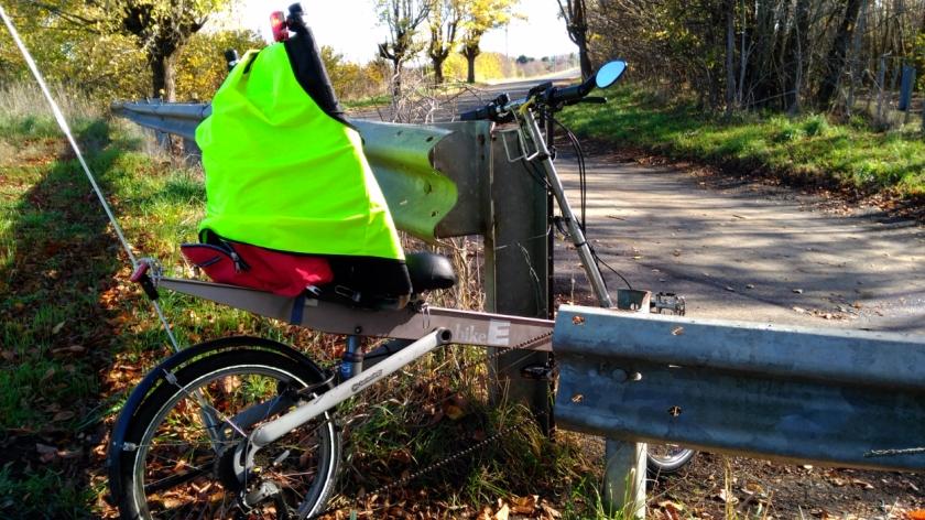 Bike E through gap