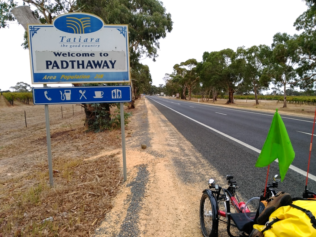 Route (A)66 to Padthaway.